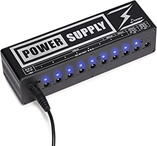 Donner DP-2 Guitar Pedal Power Supply High Current 10 Isolated DC Output for 9V/12V/18V Effect Pedals
