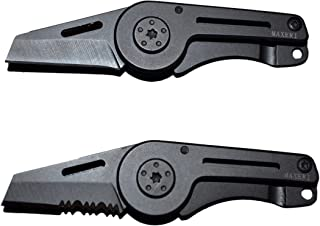MAXERI World's Smallest All Purpose Pocket Knife, Premium Heat Treated Stainless Steel Blade, Micro Slim Minimalist Design, Ideal Every Day Carry (Combo Black)