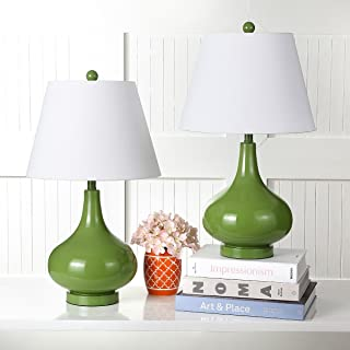 Safavieh Lighting Collection Amy Fern Green Gourd 24-inch Table Lamp (Set of 2)