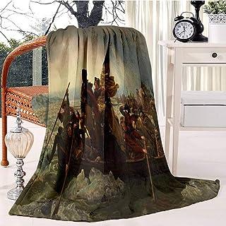 Washington Crossing The Delaware Bed Blanket Plush Velvet Soft Warm Blanket Lightweight Microfiber Blanket Christmas Blank...