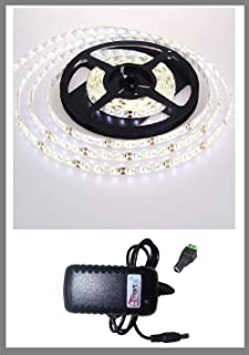 YHG 16.4ft 5m Waterproof 300 LED 3528 SMD Flexible LED Light Lamp Strip with 12v 2a Power Supply (WHITE)