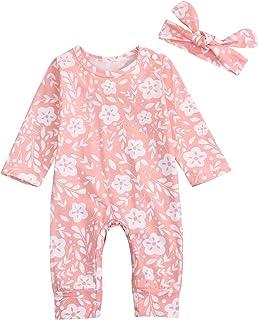 49c6ca76902 GRNSHTS Newborn Baby Girl Clothes Cute Floral Long Sleeve Romper