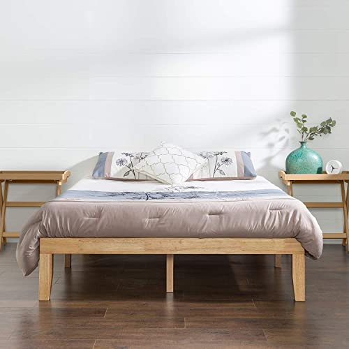 Zinus Moiz Queen Bed Frame Superior Timber Base Mattress - Solid Wooden Pine Wood | 5 Years Warranty