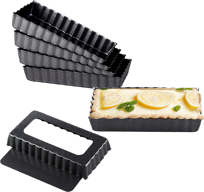SS Oakland Mall SUNSBELL Ranking TOP1 Square Egg Tart Pie Molds Pizza Non-Stick Carbon Ste