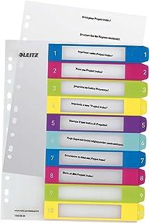Leitz Intercalaires 1-10, Imprimable sur PC, A4, Extra-Large, Plastique Ultra-Résistant, Multicolore, WOW, 12430000