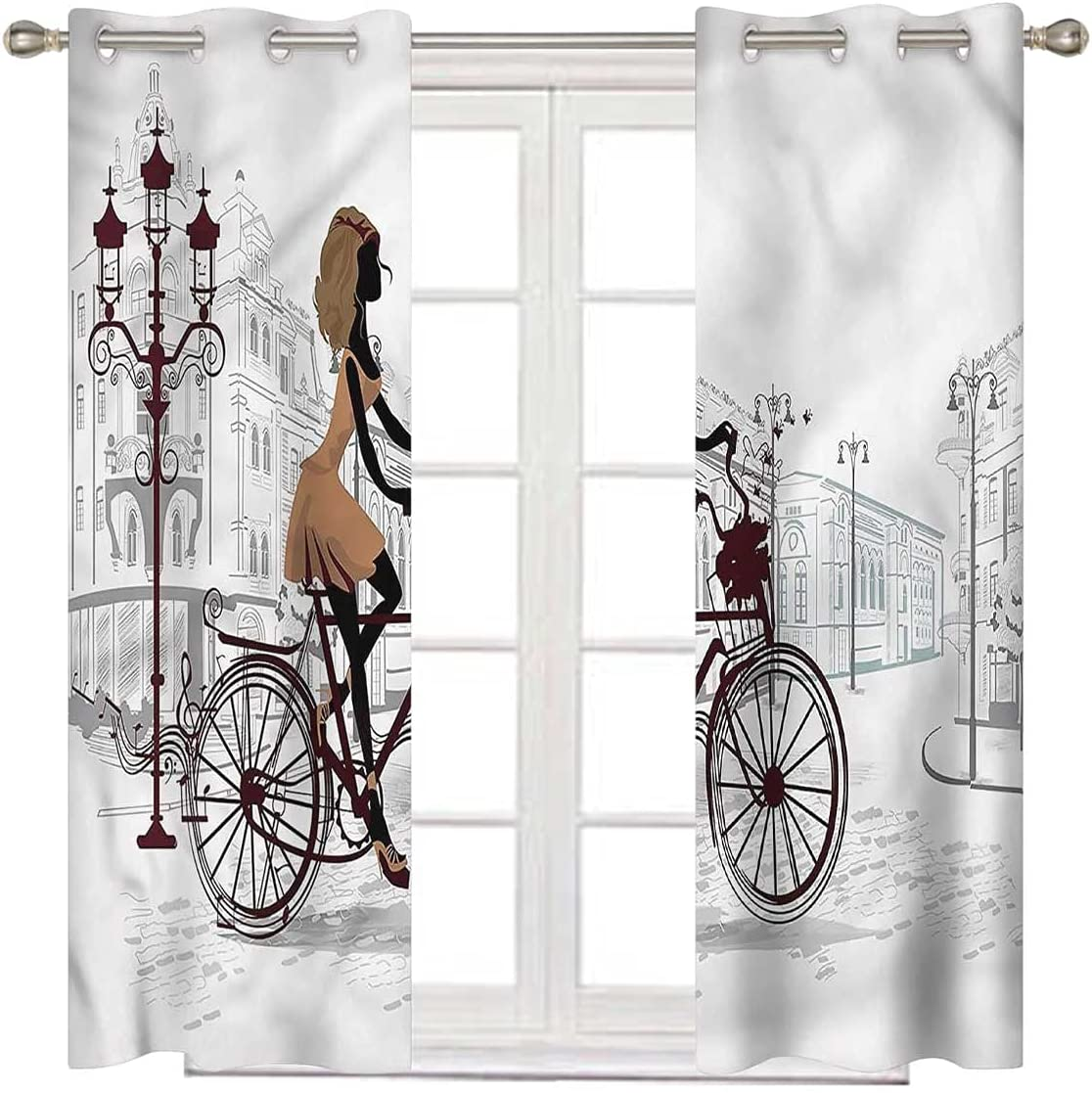 Teen OFFicial shop Room Patio Max 40% OFF Door Curtain for Long Sliding Inch 63 Young