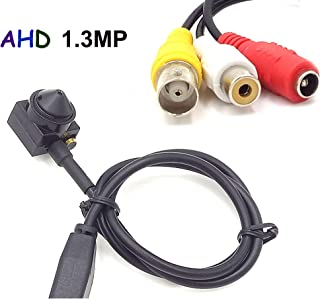 CNDST CCTV Mini AHD 720P 1.3MP HD Spy Pinhole Security Camera HD 720P/1080P AHD DVR, 3.6mm 90degree Mini Hidden Surveillance Camera
