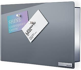 Blomus - VELIO - Armoire à clés / tableau magnétique en verre gris - 65365