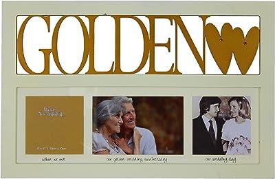 ukgiftstoreonline 50Th Golden Wedding Anniversary Photo Frame Gift Box Multi Picture