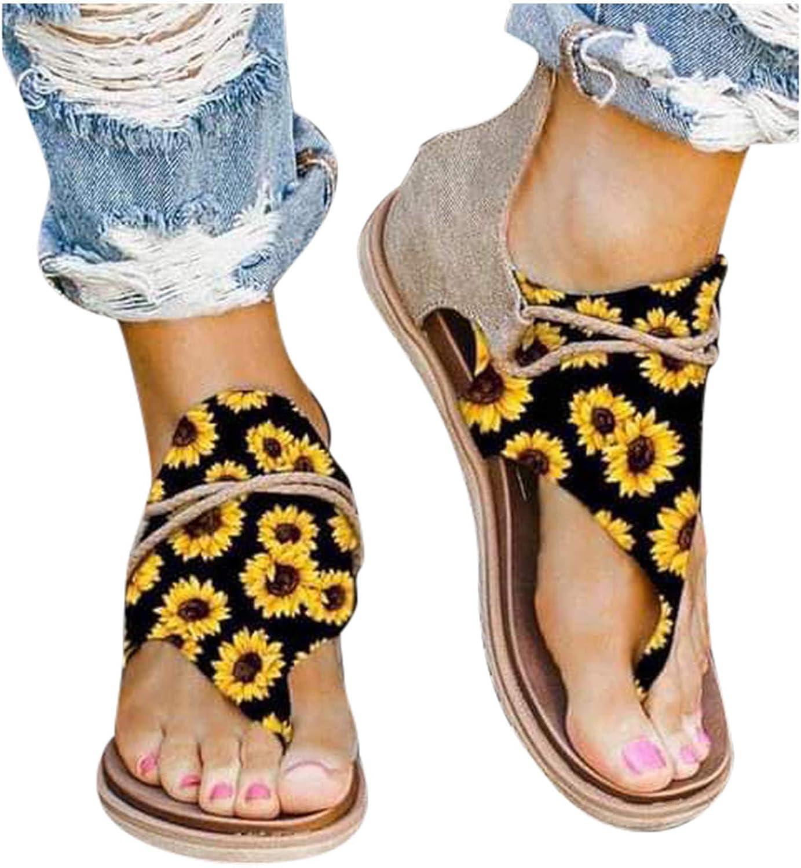 Shakumy Max 90% OFF Sandals for Women Roman Strap Omaha Mall Slip-On Flip Ankle