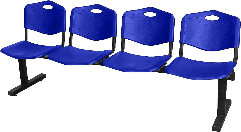 FBasic Banco para sala de espera 2-3-4-5 plazas oficina escuela estudio banco de acero