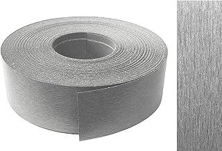 EisenRon - Listón adhesivo para rebordes (melamina, con adhesivo termofusible, 45 mm x 5 m), color metálico