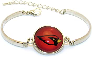 "Swamp Fox Arizona Cardinals Metal Charm Bangle Bracelet with Adjustable Chain 7"" to 8"""