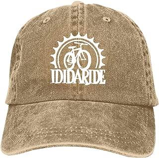 LeoCap IDIDARIDE Bike White Baseball Cap Unisex Washed Cotton Denim Hat Adjustable Caps Cowboy Hats