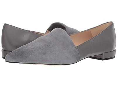 L.K. Bennett Vienetta (Warm Grey Stretch Suede/Nappa Leather) Women