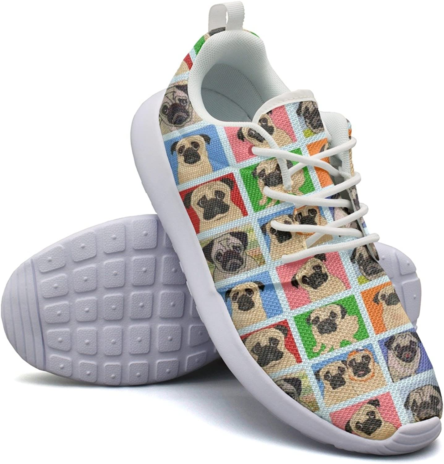 Attractive Women Pug Selfie colorful Cool Cool Fashion Running shoes