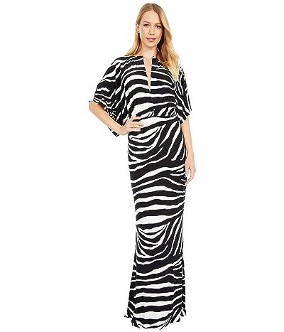 KAMALIKULTURE by Norma Kamali Obie Gown (Large Zebra) Women