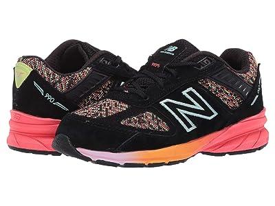 New Balance Kids 990v5 (Infant/Toddler) (Black/Tahitian Pink) Girls Shoes