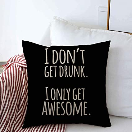 Love Girl Throw Pillows Cover 45x45 Cm Quote Funny Inspirational Quotation Alcohol Vintage Hilarious Motivate Optimistic Sentence Attitude Cushion Case For Fall Home Decor Amazon Co Uk Kitchen Home