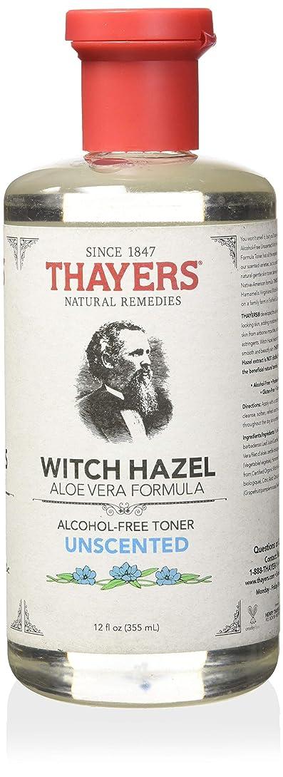 遺体安置所干渉請願者Thayer's: Witch Hazel with Aloe Vera, Unscented Toner 12 oz by Thayer's