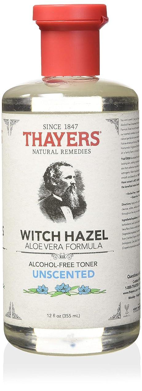 パントリー標高誇張するThayer's: Witch Hazel with Aloe Vera, Unscented Toner 12 oz by Thayer's