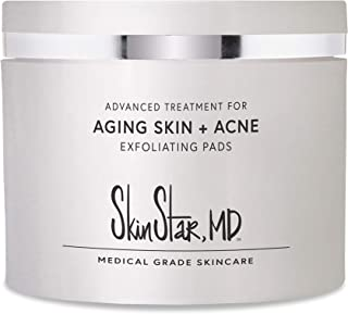 Acne Pads for Body and Face, Exfoliating Pads for Age Defense with Salicylic Acid, Glycolic and Lactic Acid 60 counts