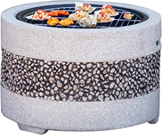 Outdoor Fire Pit Garden BBQ Grill Kit, Backyard Patio Garden Fireplace Camping Outdoor Heating, Campfire Picnic Cooking Fi...