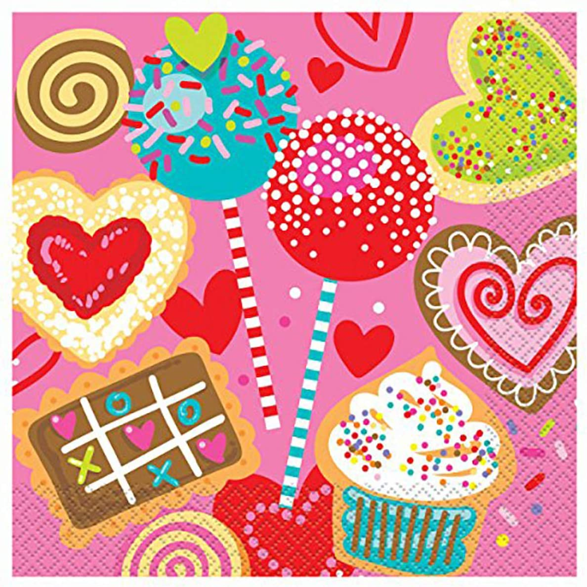 Sweet Valentine Cellophane Bags 20ct