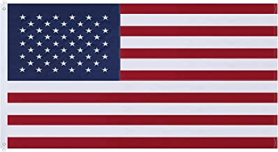 NuLink American Flag 6x10 Ft USA US Embroidered Stars Sewn Stripes Brass Grommets Flag 210D Oxford Nylon for Indoor Outdoor