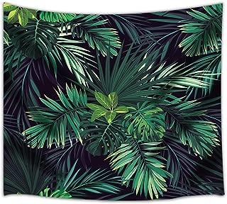 NYMB Palm Tree Leaf Tapestry, Tropic Banana Green Plant, 3D Printing Wall Art Hanging for Bedroom Living Room Dorm 71 X 60 Inches Wall Blankets Home Hippie Mandala Boho Decor