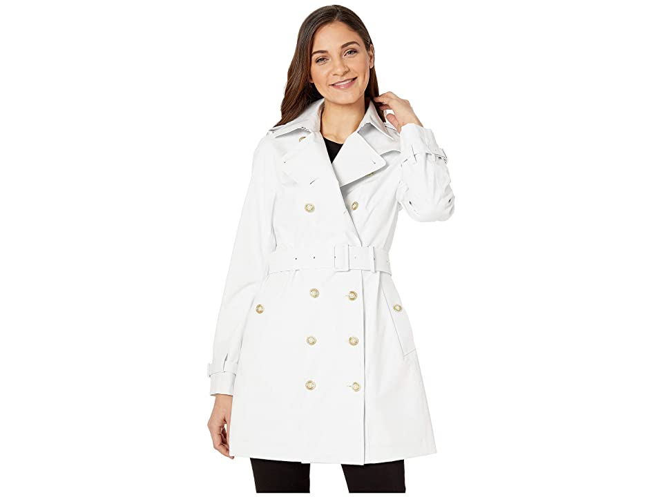 Save the Duck Grin Double Breasted Rain Coat (White) Women