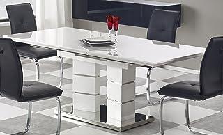 Table A Manger Design Extensible 160 ÷ 200/90/75 CM -Blanc