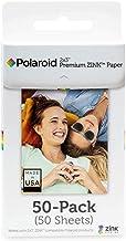 Polaroid 2x3ʺ Premium ZINK Papel Fotografico (50 Hojas) Compatible con las cámaras digitales de impresión instantánea Polaroid Snap, SnapTouch, Mint y la impresora de fotografías Polaroid ZIP y Mint