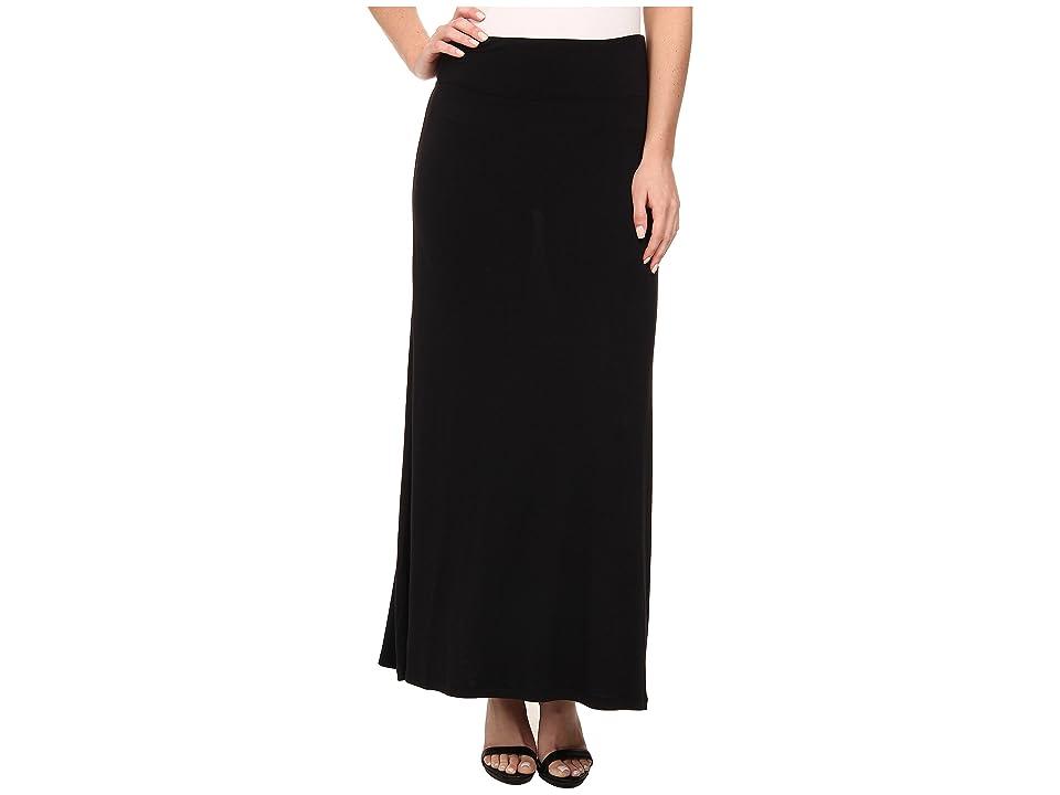 kensie Light Weight Viscose Spandex Maxi Skirt KS9K6S02 (Black) Women