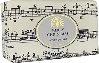 The English Soap Company, Vintage Wrapped Luxury Moisturising Shea Butter Hand Soap, Musical Notes - Cinnamon & Orange, 200g