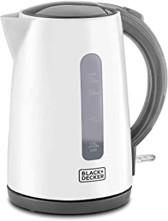 Black+Decker Concealed Coil Kettle, White, 1.7 litres, Jc70-B5, 2 Year Warranty