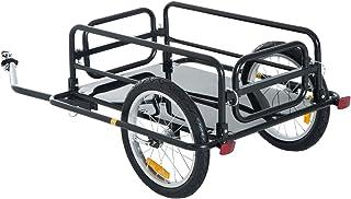 Aosom Foldable Bike Cargo Trailer Bicycle Cart Wagon...