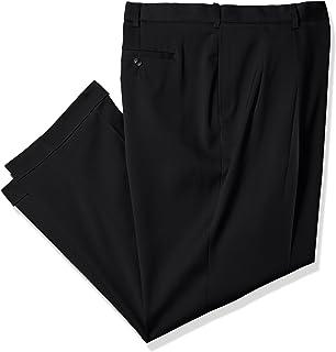Savane Men's Tall Big & Tall Pleated Stretch Crosshatch Dress Pant