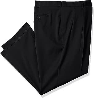 Savane Men's Big and Tall Big & Tall Pleated Stretch Crosshatch Dress Pant