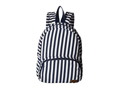 Roxy Always Core Canvas Backpack (Dblues Vertical Captain Stripe) Backpack Bags