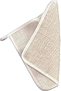 100% Natural Exfoliating Wash Cloths with Cotton Carry Bag (2 PK), Face and Body Scrubbing Towel, 10x10