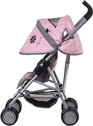 Daisy Chain Silla de Paseo para muñecas Zipp MAX: Tejido Classic Pink . Recomendado para niños de 4 a 9 años.