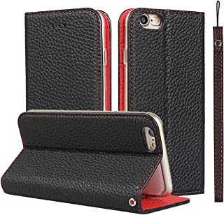 iPhone Lanyard Litchi Genuine Leather Wallet Case iPhone 7/8/SE (2020)