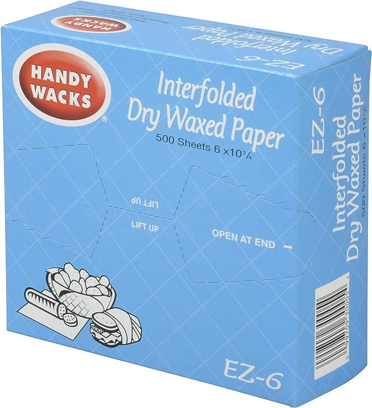 Handy Wacks Interfolded Deli Paper 500 Sheets Per Pack 12 Per Case