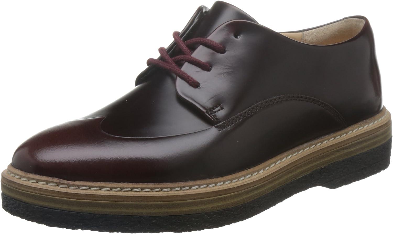 Clarks Zante Zara - Burgundy Leather Womens shoes