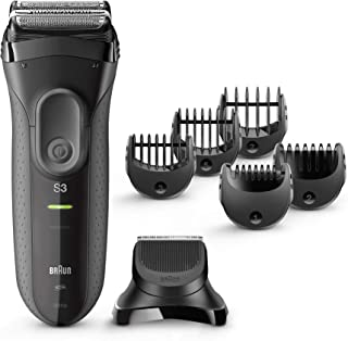Braun Series 3 Shave and Style 3000BT 3-in-1 Electric Shaver Razor, Hair Razer with Precision Beard Trimmer for Men