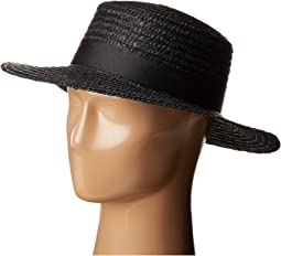 Lack of Color - Spencer Noir Straw Boater