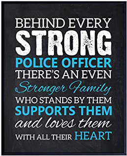 Police Officer Wall Decor Picture for Home, Apartment, Station, Office, Bedroom, Living or Family Room - Gift for Law Enfo...