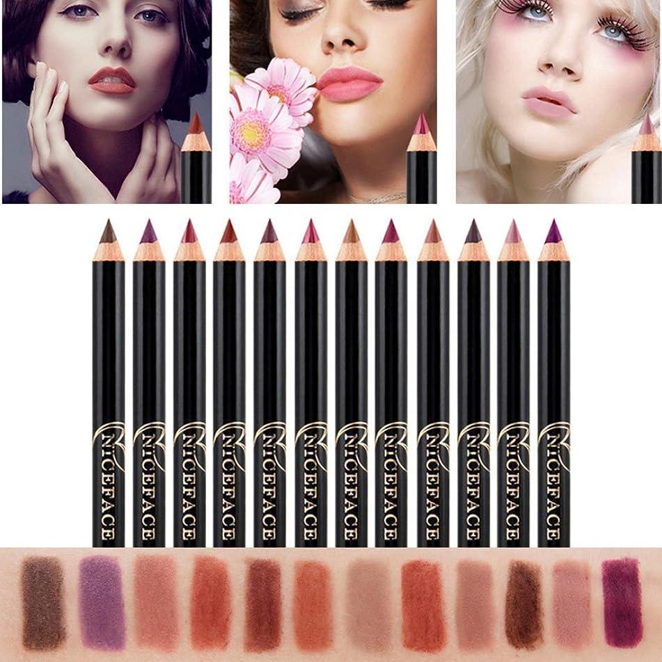Putars Women Sexy 12PCS Lot Set 12 Colors Professional Lipliner Makeup Waterproof Lip Liner Pencil