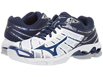 Mizuno Wave Voltage (White/Navy) Women